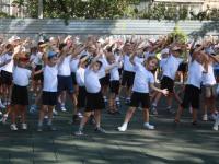 В рамках Всероссийской акции «Волна здоровья»  4 сентября в детском саду  была проведена  единая общесадовая зарядка.