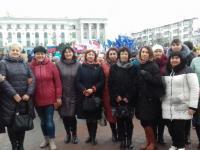 3 февраля коллектив ДОУ принял участие в  митинге, посвященном годовщине великой победы в Сталинградской битве и антироссийским санкциям