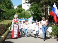 Парад посвященный Дню России