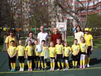 11 апреля на базе нашего детского сада прошли малые соревнования «Первые шаги в футболе»  внутри территориального объединения дошкольных учреждений.